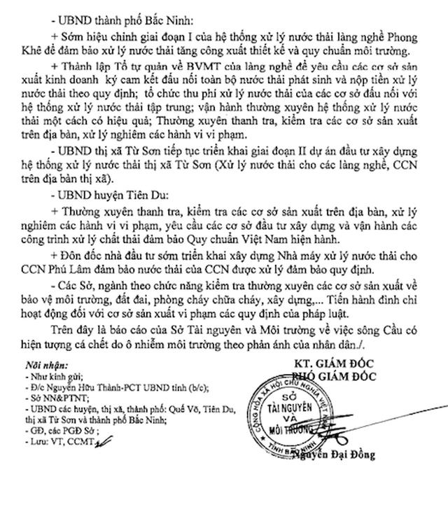 """Sông Cầu đang """"giãy chết"""", Chủ tịch tỉnh Bắc Ninh yêu cầu công an vào cuộc! - 2"""