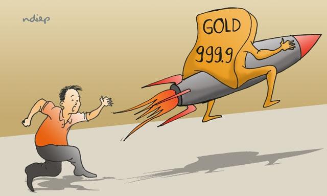"""Cảnh giác với sự """"sốt ảo"""" của giá vàng - 1"""