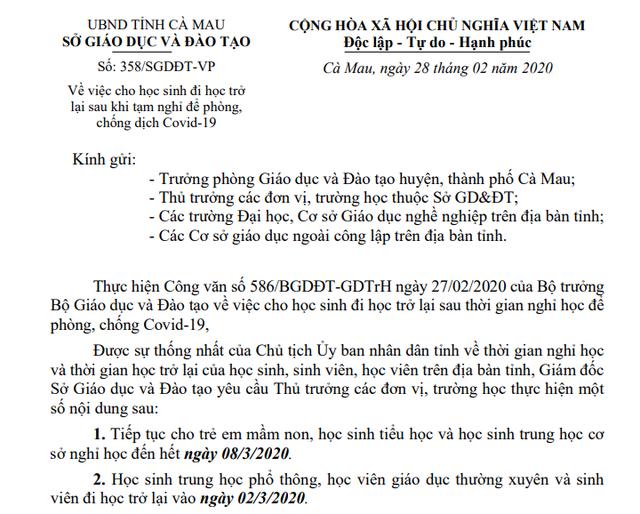 Bình Định, Huế, Đắk Lắk, Cà Mau, Đồng Nai, Gia Lai: HS THPT đi học từ 2/3 - 4