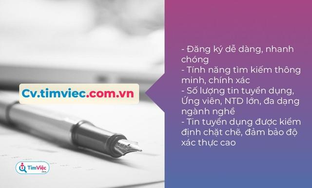 Cv.timviec.com.vn – địa chỉ tạo CV tin cậy cho người tìm việc - 1