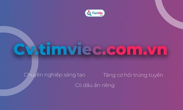 Cv.timviec.com.vn – địa chỉ tạo CV tin cậy cho người tìm việc - 5