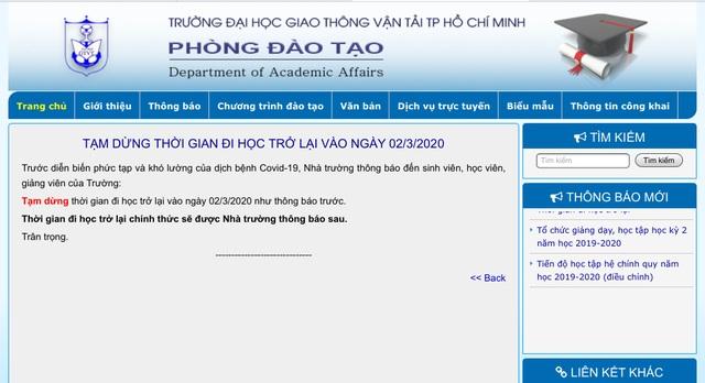 Dịch Covid-19 phức tạp, nhiều ĐH tại TPHCM ngừng kế hoạch đi học tuần sau - 2