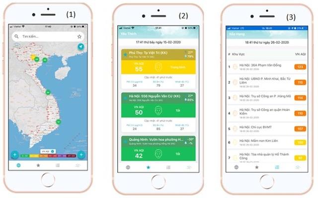"""Mở kênh"""" thông tin chất lượng không khí trên điện thoại di động - 2"""