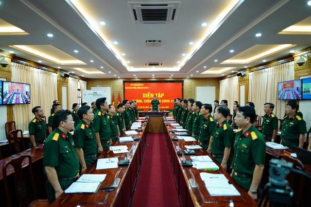 Bộ chỉ huy cuộc diễn tập tại cầu TPHCM đặt bên trong Bộ Tư lệnh Quân khu 7