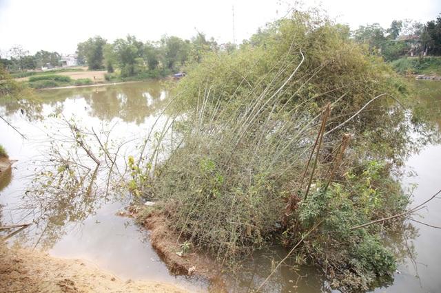 Sông Ngàn Sâu nuốt chửng vườn dân, uy hiếp cầu treo - 6