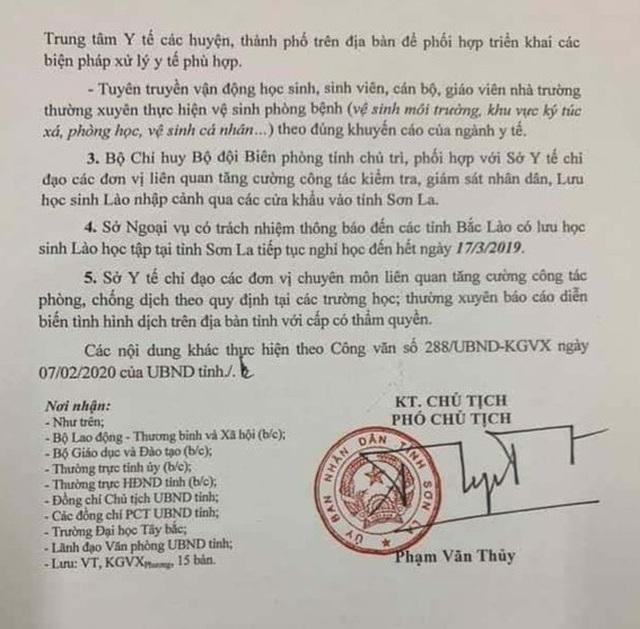 Sơn La: Học sinh, sinh viên lại nghỉ đến 17/3 sau một ngày trở lại trường - 2