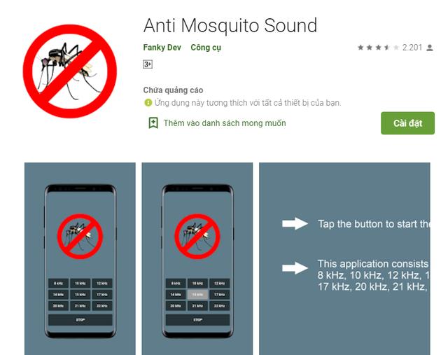 Thực hư ứng dụng thần thánh giúp đuổi muỗi bằng smartphone - 2