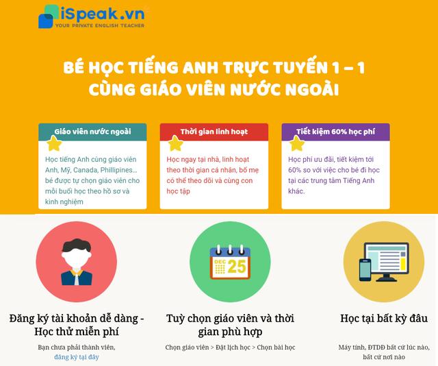 Độc đáo mô hình học tiếng Anh trực tuyến 1-1 - 2