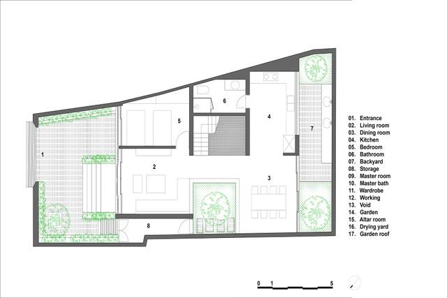 Mãn nhãn với ngôi nhà như ốc đảo xanh giữa lòng Hà Nội - 12