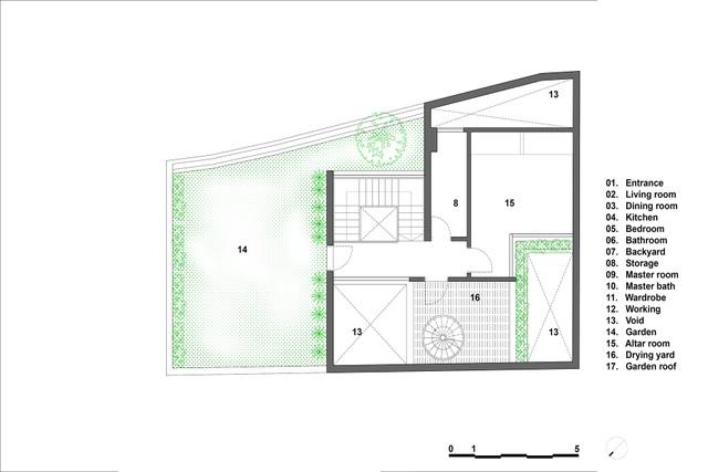 Mãn nhãn với ngôi nhà như ốc đảo xanh giữa lòng Hà Nội - 14