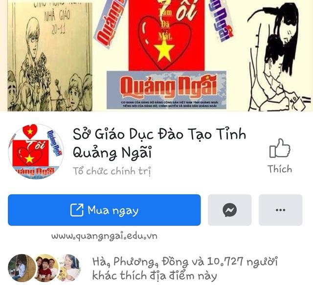 Quảng Ngãi:  Sở GDĐT lo ngại bị mạo danh trên mạng xã hội - 1