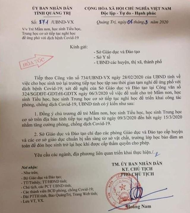 Phú Yên, Quảng Bình, Quảng Trị cho HS bậc Mầm non đến THCS nghỉ thêm 1 tuần - 2