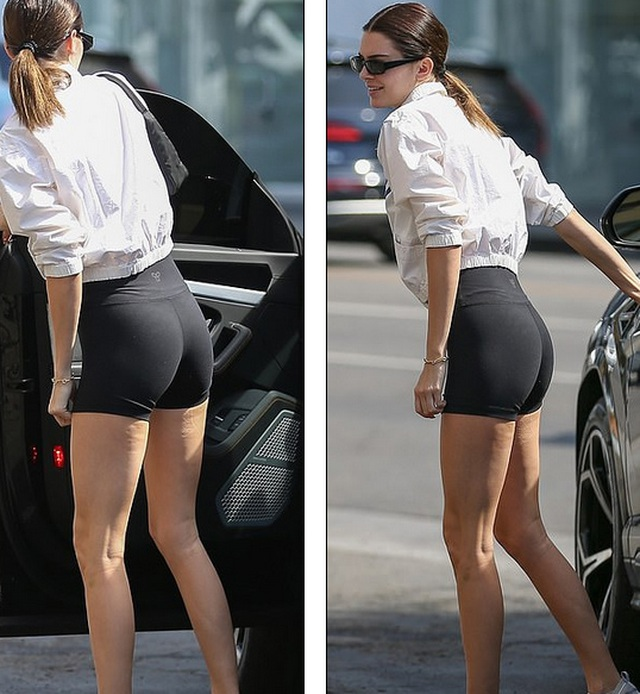 Kendall Jenner lộ chân dài thon thả - 2