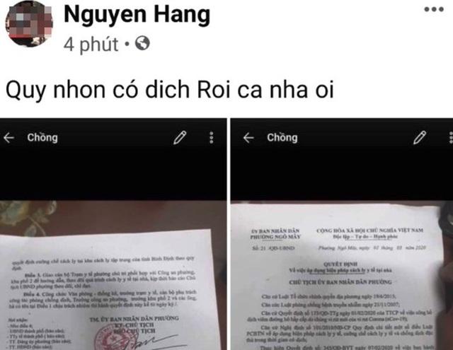 Sinh viên du học về cách ly tại nhà, Facebooker loan tin Quy Nhơn có dịch - 2