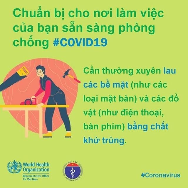WHO khuyến cáo cách phòng chống Covid-19 tại nơi làm việc - 1