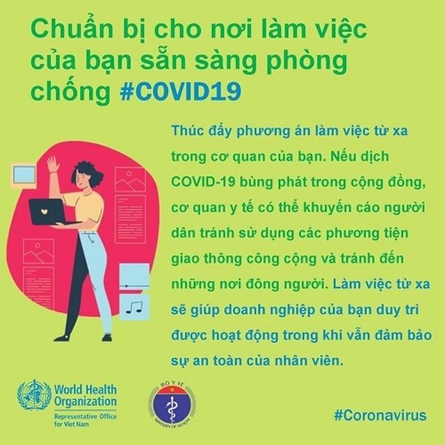 WHO khuyến cáo cách phòng chống Covid-19 tại nơi làm việc - 6