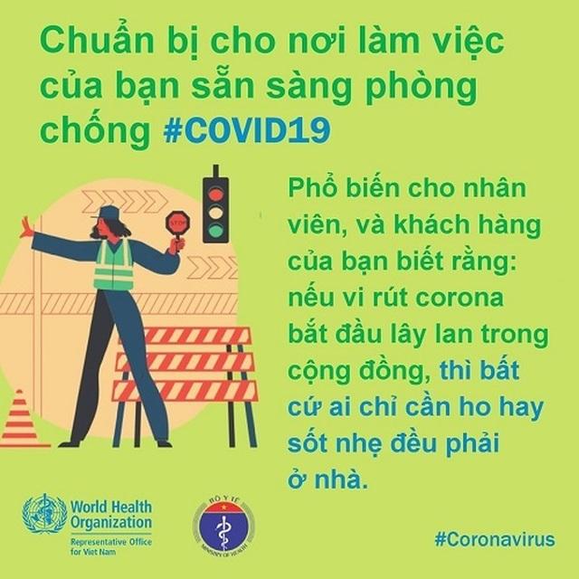 WHO khuyến cáo cách phòng chống Covid-19 tại nơi làm việc - 8