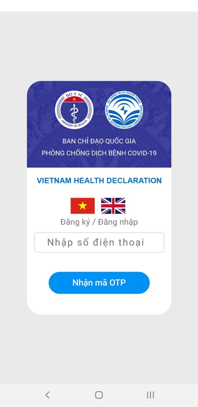 Hướng dẫn chi tiết cách khai báo y tế thông qua smartphone hoặc máy tính - 1