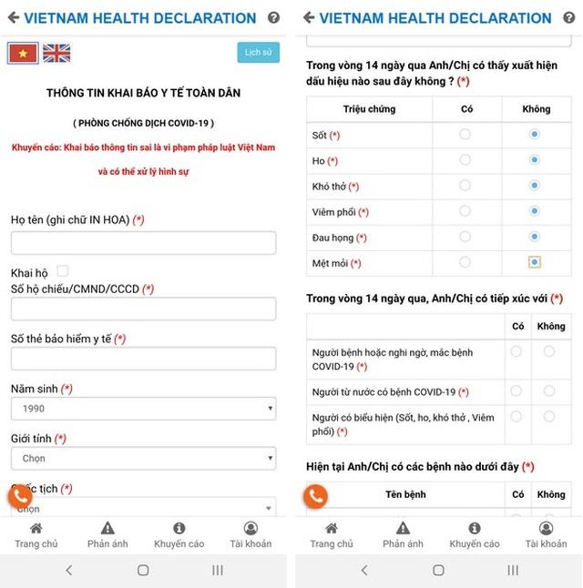 Hướng dẫn chi tiết cách khai báo y tế thông qua smartphone hoặc máy tính - 3