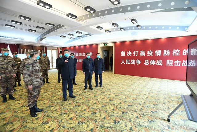 Ông Tập Cận Bình thăm bệnh viện dã chiến, khu dân cư ở Vũ Hán - 4