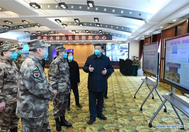 Ông Tập Cận Bình thăm bệnh viện dã chiến, khu dân cư ở Vũ Hán - 3