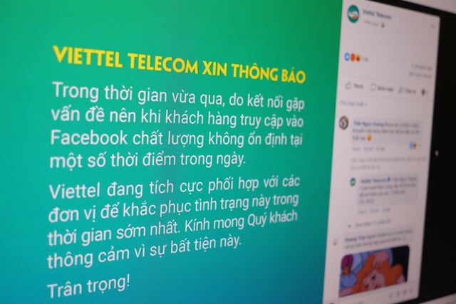 Viettel, VNPT đưa thông báo về truy cập Facebook không ổn định - 1