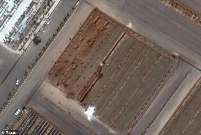 Ảnh vệ tinh cho thấy rãnh nghi là mộ tập thể của nạn nhân Covid-19 tại Iran - 2