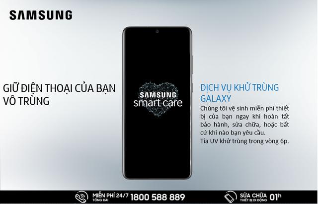 Samsung khử khuẩn smartphone miễn phí bằng tia UV - 2