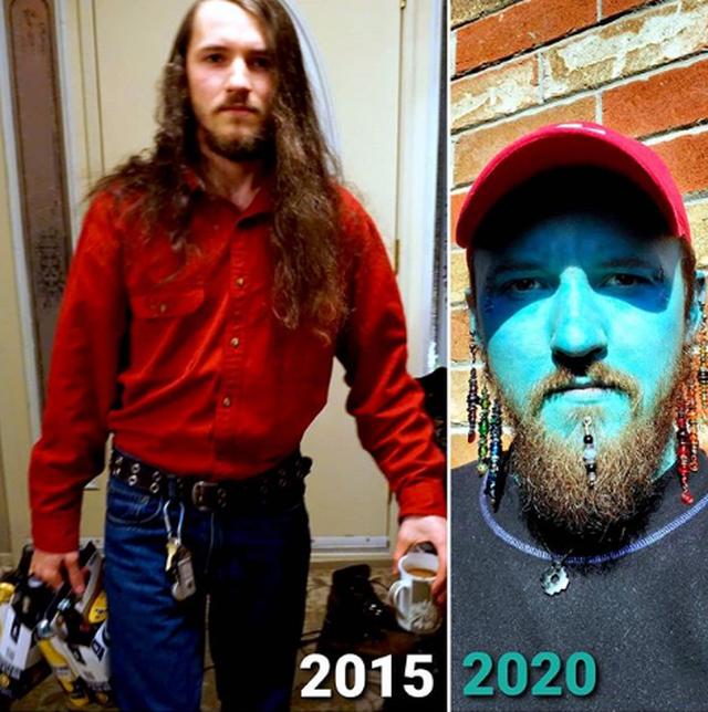 Người đàn ông xăm da toàn thân xanh như Xì trum để... tăng tự tin - 2