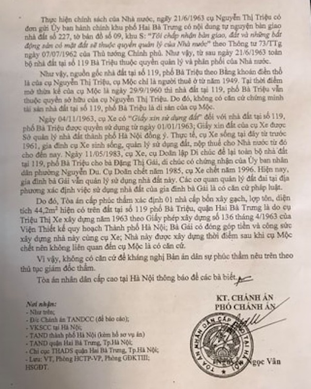 Hà Nội: Cụ bà 78 tuổi gần 10 năm đi kiện đòi một sự thật… hiển nhiên! - 2