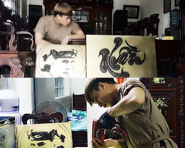 """Độc đáo chàng trai trẻ """"vẽ"""" tranh bằng xích, ốc vít - 4"""