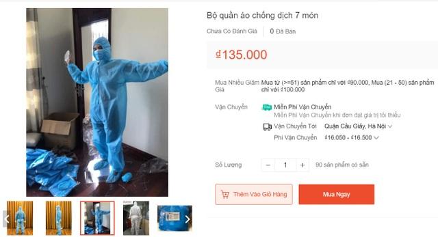 Giá rẻ bất ngờ, chỉ vài chục nghìn đồng cho bộ đồ phòng dịch Covid-19 - 2