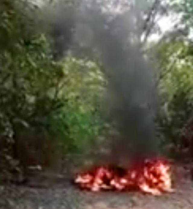 3 xe máy của cán bộ bảo vệ rừng bị thiêu rụi - 1
