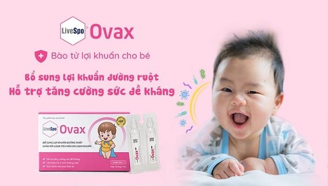 Hỗ trợ tăng cường đề kháng cơ thể bằng Bào tử lợi khuẩn LiveSpo Ovax - 3