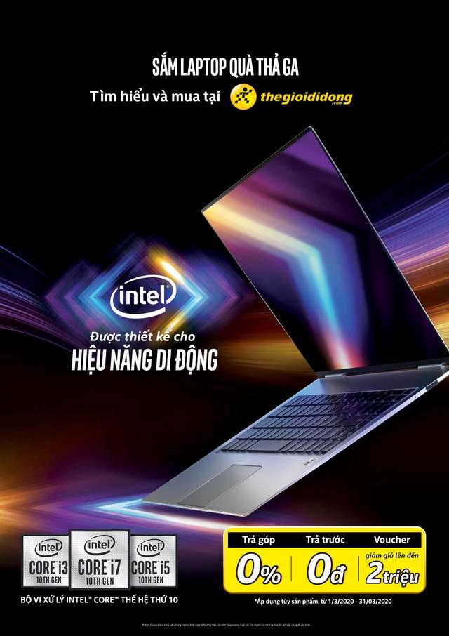Sắm laptop chip Intel thế hệ 10 nhận quà lớn tại Thế giới di động - 1
