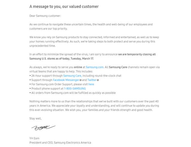 Đến lượt Samsung đóng toàn bộ cửa hàng tại Mỹ vô thời hạn vì Covid-19 - 2