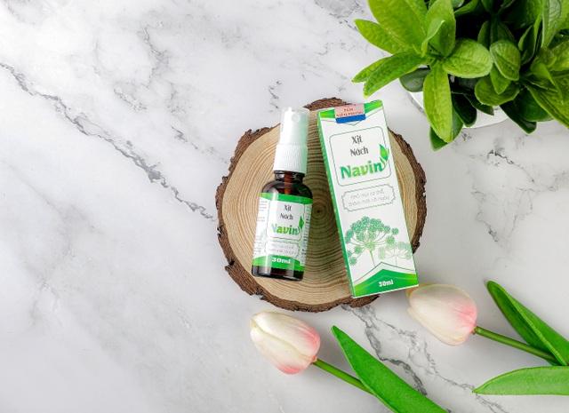 Xịt nách Navin – bảo vệ làn da dưới cánh tay khỏe mạnh và khô thoáng - 2