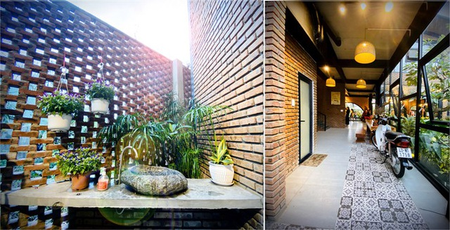 Ngôi nhà kết hợp quán cafe đẹp lạ nhờ nghệ thuật xếp gạch gây mê - 10