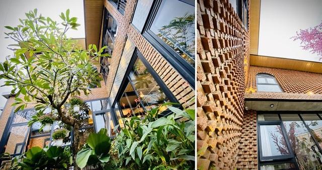 Ngôi nhà kết hợp quán cafe đẹp lạ nhờ nghệ thuật xếp gạch gây mê - 3