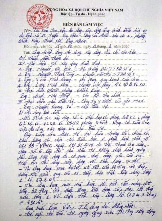"""Bình Định: Thanh tra """"sờ gáy"""" 2 khu nghỉ dưỡng ven biển thi công vi phạm - 2"""