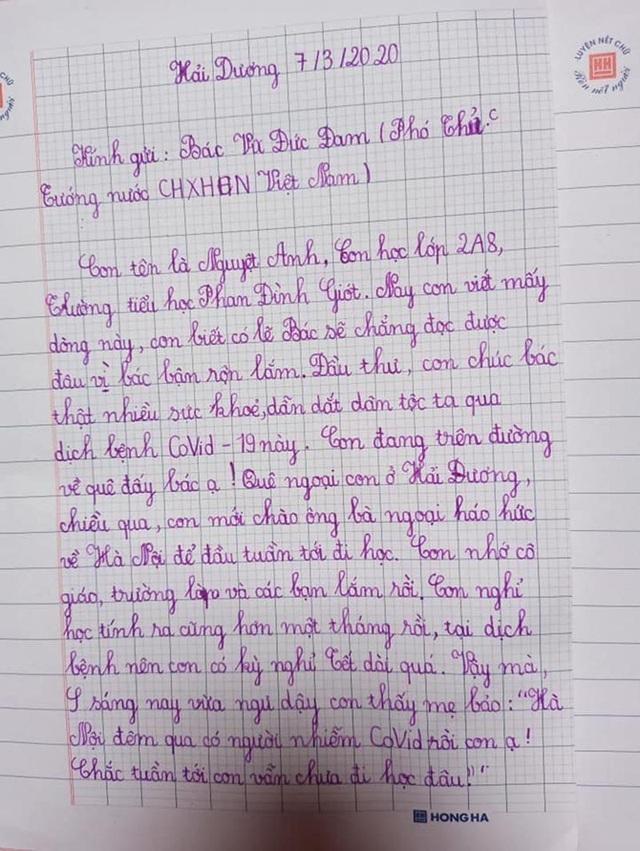 Bé gái lớp 2 viết thư gửi Phó Thủ tướng, vẽ tranh cổ động chống Covid-19 - 1