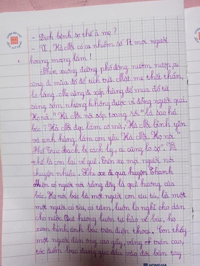 Bé gái lớp 2 viết thư gửi Phó Thủ tướng, vẽ tranh cổ động chống Covid-19 - 2