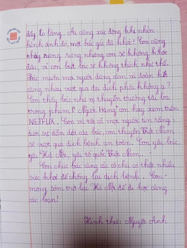 Bé gái lớp 2 viết thư gửi Phó Thủ tướng, vẽ tranh cổ động chống Covid-19 - 3