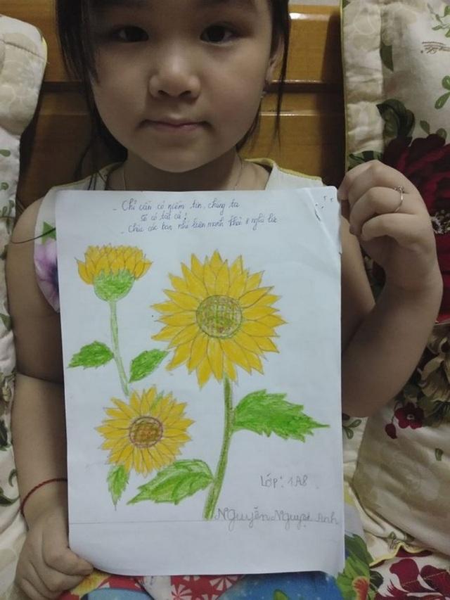 Bé gái lớp 2 viết thư gửi Phó Thủ tướng, vẽ tranh cổ động chống Covid-19 - 5
