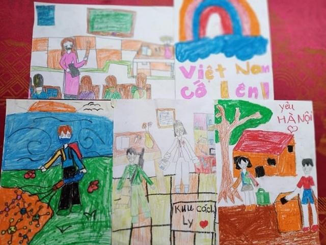 Bé gái lớp 2 viết thư gửi Phó Thủ tướng, vẽ tranh cổ động chống Covid-19 - 6
