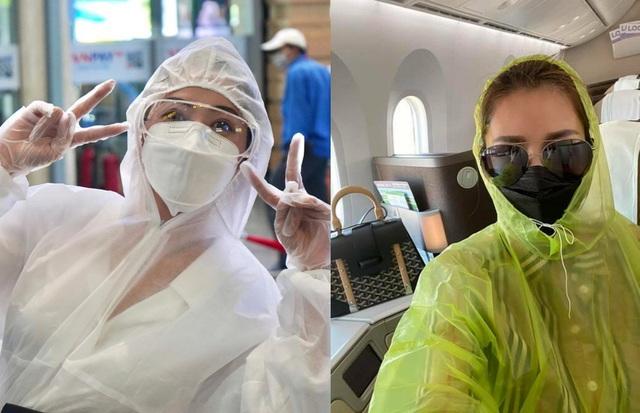 """Xuân Bắc mặc """"ngộp thở"""" như """"người nhện"""" khi đi máy bay phòng Covid-19 - 1"""