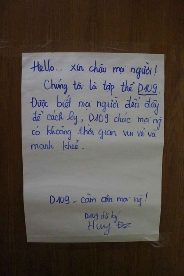Lá thư đầy ắp tình người của sinh viên nhường ký túc xá gửi người cách ly - 5