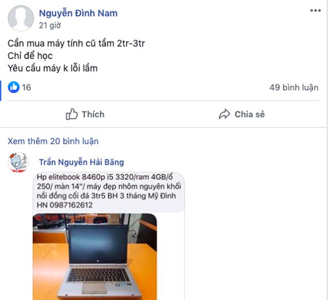 """Học online mùa dịch lên ngôi, laptop cũ dưới 3 triệu đồng """"cháy hàng - 2"""
