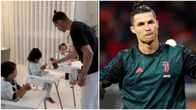 Ở nhà trông con mùa dịch Covid-19, C.Ronaldo gây sốt cộng đồng mạng - 1