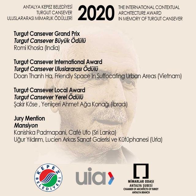 Giải thưởng quốc tế Turgut Cansever 2020 trao cho KTS Đoàn Thanh Hà - 1